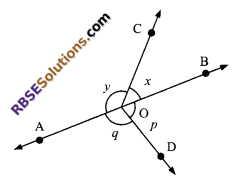 RBSE Solutions for Class 9 Maths Chapter 5 Plane Geometry and Line and Angle Ex 5.1