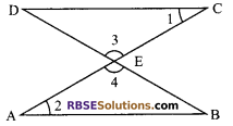 RBSE Solutions for Class 9 Maths Chapter 7 Congruence and Inequalities of Triangles Ex 7.1