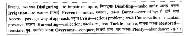 Rajasthan Board Solutions for Class 8 English Chapter 15 Water for All 2