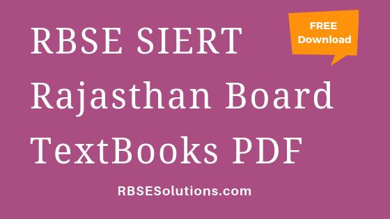 RBSE Rajasthan Board Books PDF Free Download in Hindi English Medium