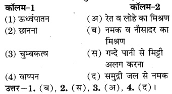RBSE Solutions for Class 7 Science Chapter 3 पदार्थों का पृथक्करण 1