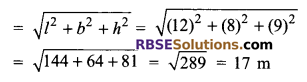 RBSE Solutions for Class 9 Maths Chapter 12 Surface Area and Volume of Cube and Cuboid Additional Questions