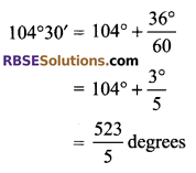 RBSE Solutions for Class 9 Maths Chapter 13 Angles and their Measurement Additional Questions q7