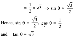 RBSE Solutions for Class 9 Maths Chapter 14 Trigonometric Ratios of Acute Angles Ex 14.2 - 17