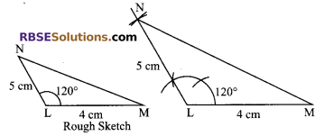 RBSE Solutions for Class 9 Maths Chapter 8 Construction of Triangles Ex 8.2