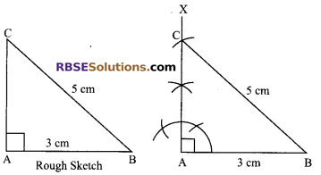 RBSE Solutions for Class 9 Maths Chapter 8 Construction of Triangles Ex 8.4