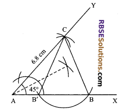 RBSE Solutions for Class 9 Maths Chapter 8 Construction of Triangles Ex 8.5