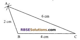 RBSE Solutions for Class 9 Maths Chapter 8 Construction of Triangles Miscellaneous Exercise