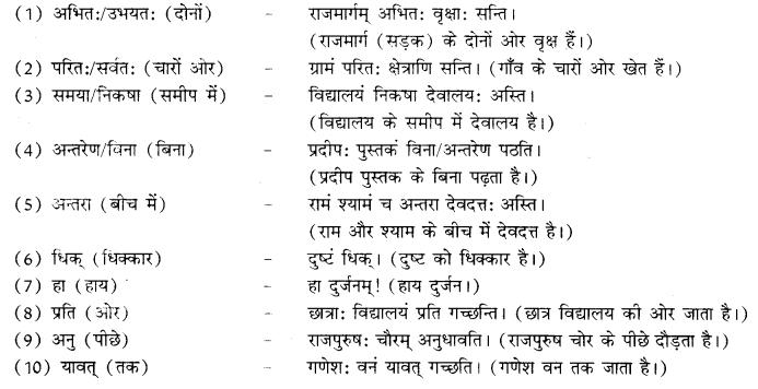 RBSE Class 10 Sanskrit व्याकरणम् कारकम् image 5a