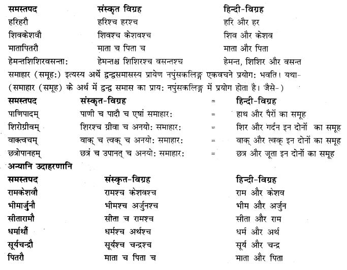 RBSE Class 10 Sanskrit व्याकरणम् समासः image 15a