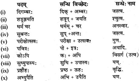 RBSE Class 12 Sanskrit व्याकरणम् सन्धिप्रकरणम् 2