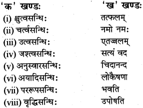 RBSE Class 12 Sanskrit व्याकरणम् सन्धिप्रकरणम् 4