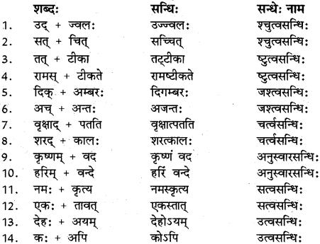 RBSE Class 12 Sanskrit व्याकरणम् सन्धिप्रकरणम् 9