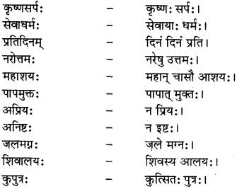 RBSE Class 12 Sanskrit व्याकरणम् समासप्रकरणम् 1