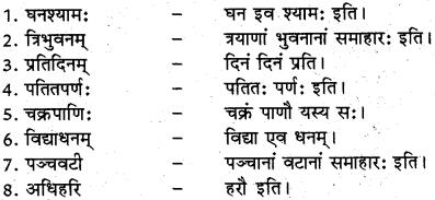 RBSE Class 12 Sanskrit व्याकरणम् समासप्रकरणम् 6