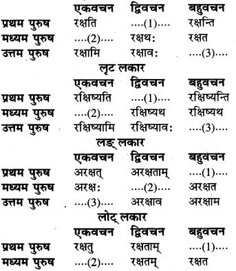 RBSE Class 6 Sanskrit व्याकरण धातु-रूपम् 57