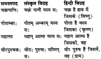 RBSE Class 6 Sanskrit व्याकरण समास 10
