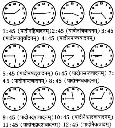 RBSE Class 7 Sanskrit व्याकरण समयलेखनम् 5