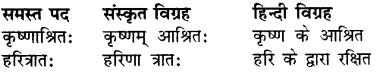 RBSE Class 7 Sanskrit व्याकरण समास प्रकरण 2
