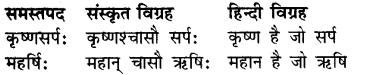 RBSE Class 7 Sanskrit व्याकरण समास प्रकरण 3