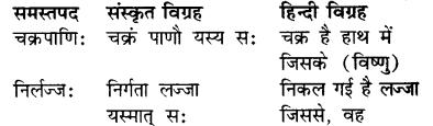RBSE Class 7 Sanskrit व्याकरण समास प्रकरण 5