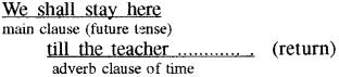 RBSE Class 8 English Grammar Tenses