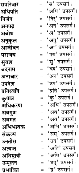RBSE Class 8 Hindi व्याकरण उपसर्ग 1