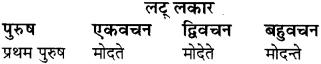RBSE Class 8 Sanskrit व्याकरण धातु-रूपाणि - 21