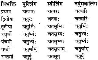 RBSE Class 8 Sanskrit व्याकरण संख्यावाचका शब्दा 8