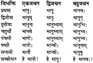 RBSE Class 8 Sanskrit व्याकरण संज्ञा शब्द 7