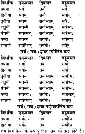 RBSE Class 8 Sanskrit व्याकरण सर्वनाम शब्द 11