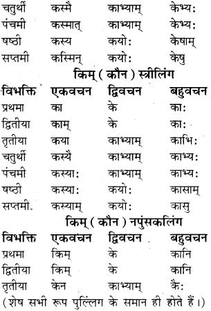 RBSE Class 8 Sanskrit व्याकरण सर्वनाम शब्द 6