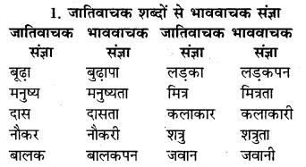 RBSE Class 9 Hindi व्याकरण संज्ञा 2