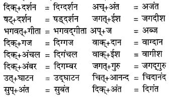 RBSE Class 9 Hindi व्याकरण सन्धि 4
