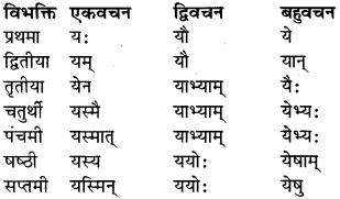 RBSE Class 9 Sanskrit व्याकरण रूप-प्रकरणम् 35