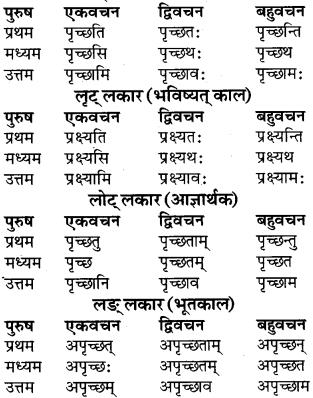 RBSE Class 9 Sanskrit व्याकरण रूप-प्रकरणम् 52