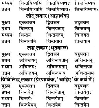 RBSE Class 9 Sanskrit व्याकरण रूप-प्रकरणम् 59