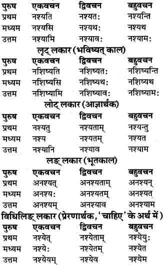 RBSE Class 9 Sanskrit व्याकरण रूप-प्रकरणम् 61