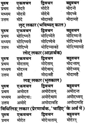 RBSE Class 9 Sanskrit व्याकरण रूप-प्रकरणम् 70