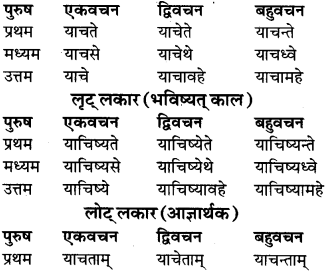 RBSE Class 9 Sanskrit व्याकरण रूप-प्रकरणम् 73