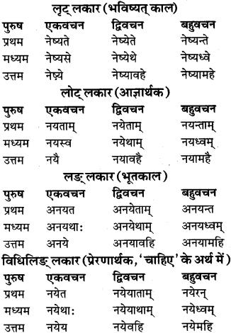 RBSE Class 9 Sanskrit व्याकरण रूप-प्रकरणम् 77