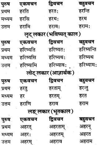 RBSE Class 9 Sanskrit व्याकरण रूप-प्रकरणम् 78