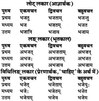 RBSE Class 9 Sanskrit व्याकरण रूप-प्रकरणम् 82