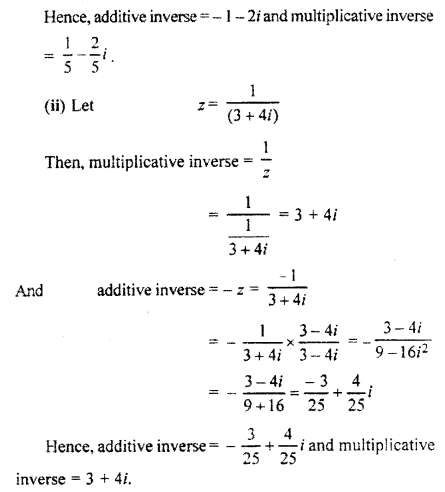RBSE Solutions for Class 11 Maths Chapter 5 Complex Numbers Ex 5.1 3