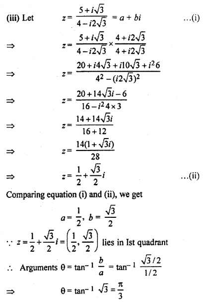 RBSE Solutions for Class 11 Maths Chapter 5 Complex Numbers Ex 5.2 4