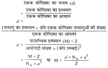 RBSE Solutions for Class 12 Chemistry Chapter 1 ठोस अवस्था image 16