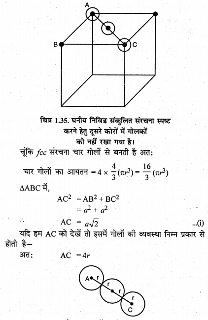 RBSE Solutions for Class 12 Chemistry Chapter 1 ठोस अवस्था image 40
