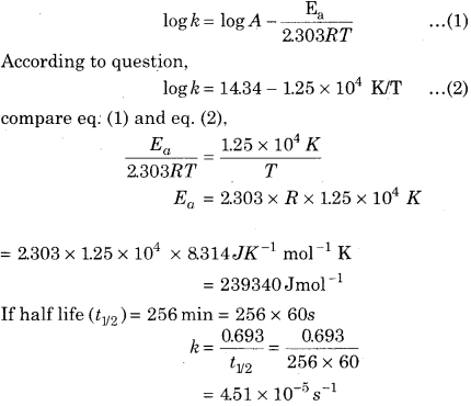 RBSE Solutions for Class 12 Chemistry Chapter 4 Chemical Kinetics image 39