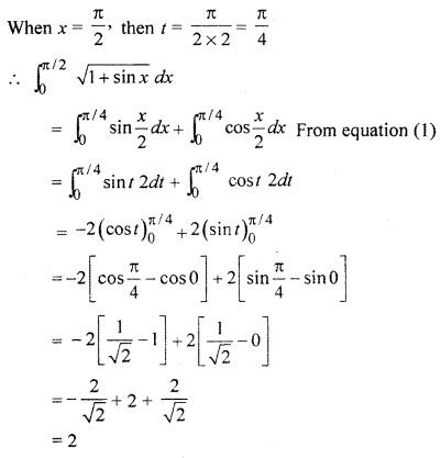 RBSE Solution 12th Class Definite Integral