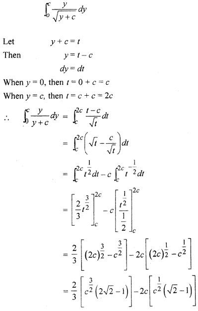 12th Class RBSE Solution Definite Integral